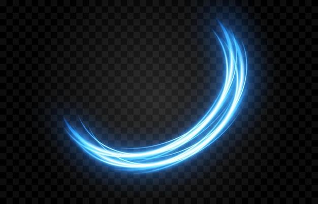 青い光の線。ブルーグロー、マジックライト、ネオンライト、apgネオン。背景光。