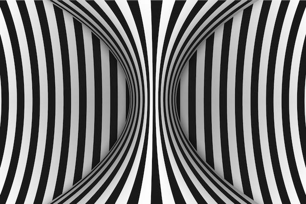 Lines optical illusion