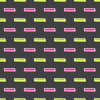 80년대, 90년대 복고풍 스타일의 라인 패턴. 추상적인 기하학적 배경