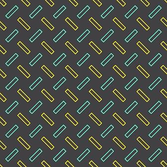 80年代、90年代のレトロなスタイルのラインパターン。抽象的な幾何学的な背景