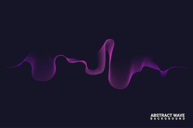 Lines wave background design