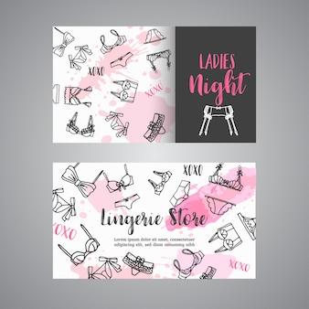Женская одежда визитная карточка модный бюстгальтер и трусики