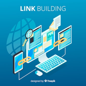 Link building flat background