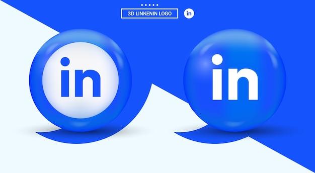 Linkedin logo in circle modern style  social media logotype