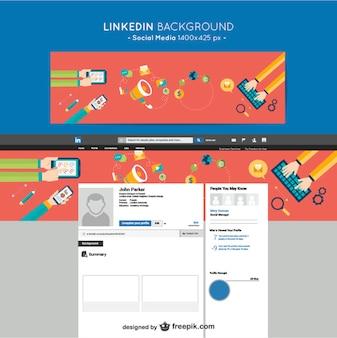Linkedin social media background