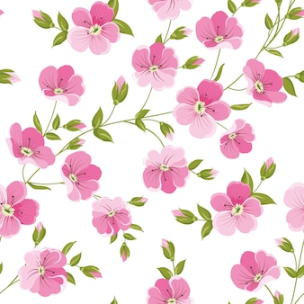 Linum seamless pattern for fabric swatches.
