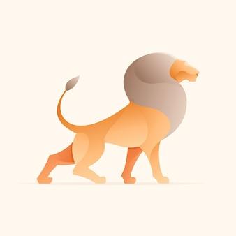 Лев. дизайн животных.