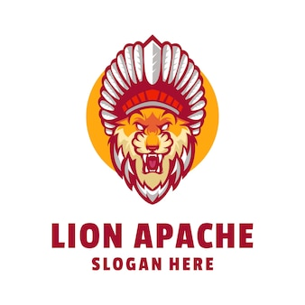 ライオンアパッチのロゴデザイン