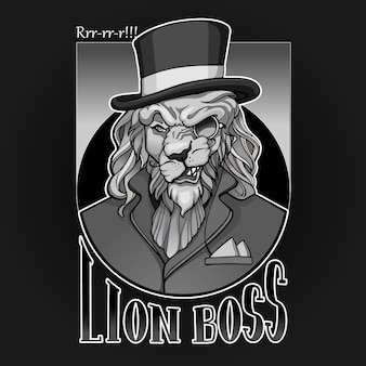 Lion aristocrat portrait