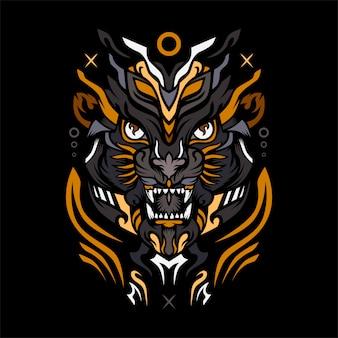 Lion army premium vector