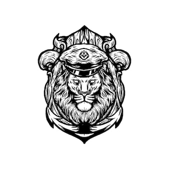 Lion captain vector
