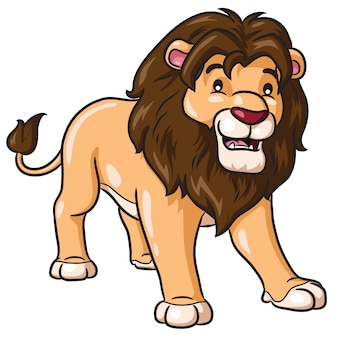 Lion cartoon cute