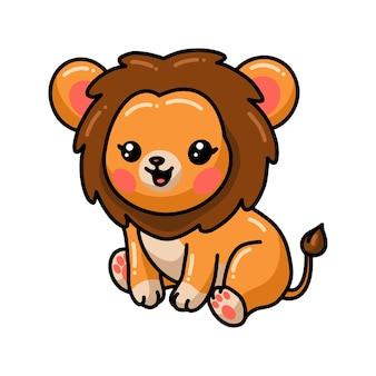 白で隔離座っているライオンの漫画
