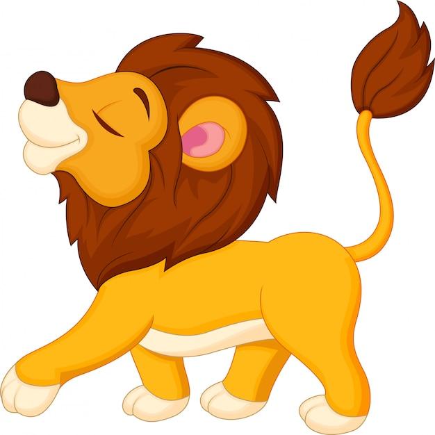 Лев мультяшный ходьба