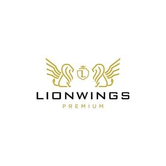 Логотип герба льва