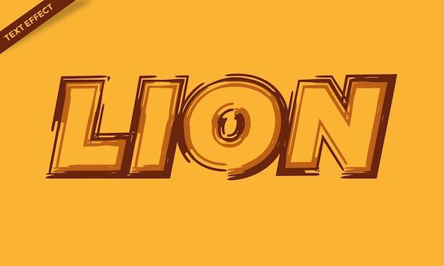 Lion color brush text effect