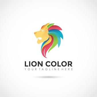 라이온 컬러 로고 디자인