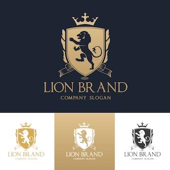 Lion crests logo. luxury logo set design for hotel,sport club,real estate ,spa, fashion brand identity