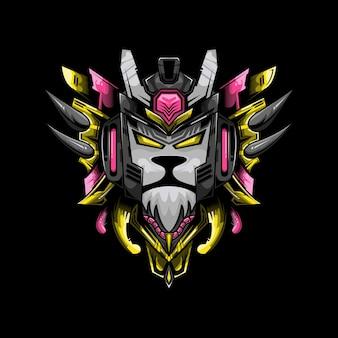 Lion cyber illustration
