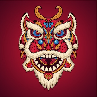 Lion dance mask