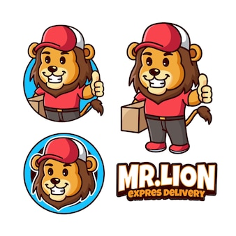 Логотип талисмана доставки льва