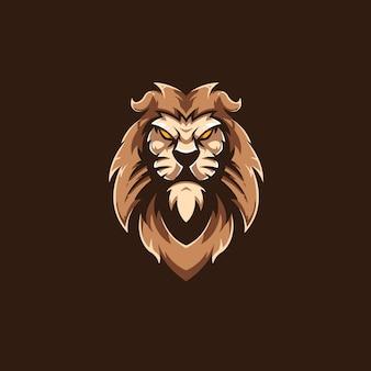 Шаблон логотипа спортивной команды lion