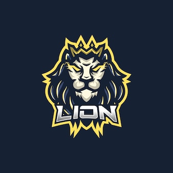 Lion esport gaming mascot logo template