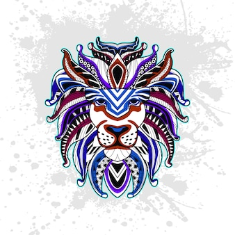 Lion from abstract decorative pattern