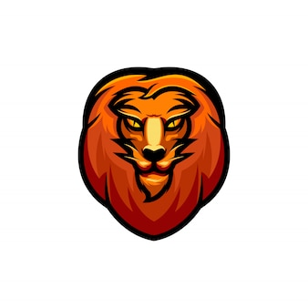 Lion head clip-art