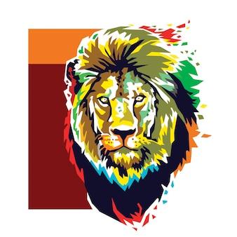 Lion head colour vector