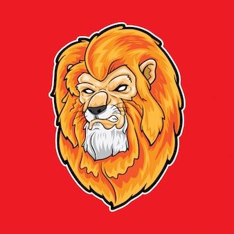 Lion head cool mascot