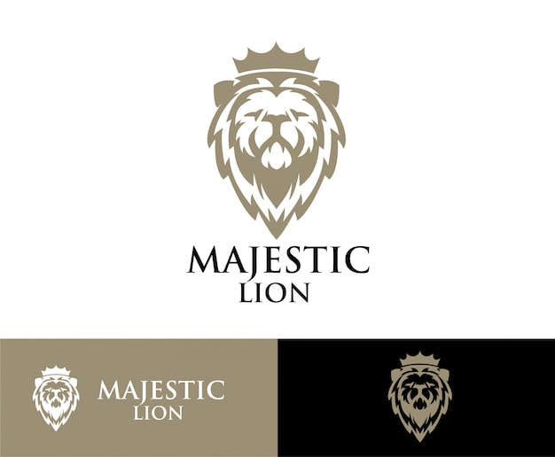 Lion head crown logo