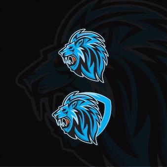 Lion head for esport logo template