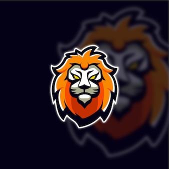 Логотип головы киберспорта льва