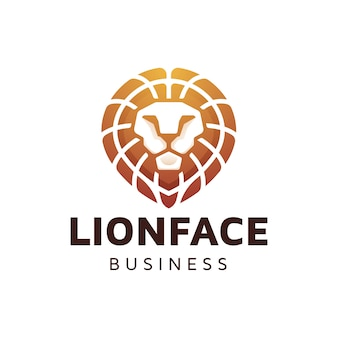 Lion head gradient logo design