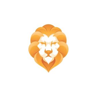 Логотип волос головы льва