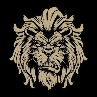 Lion head illustration 2