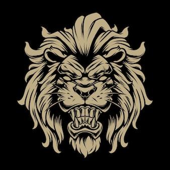 Lion head illustration 3