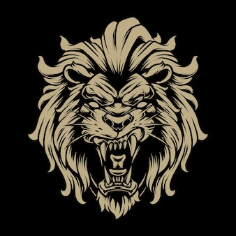 Lion head illustration 5