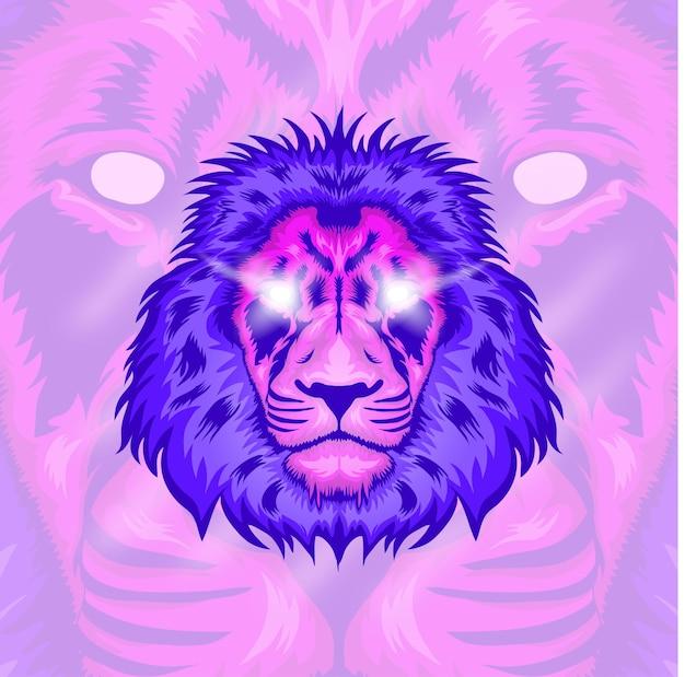 Дизайн иллюстрации головы льва