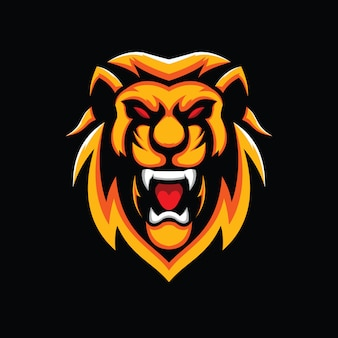 黒に分離されたライオンヘッド図