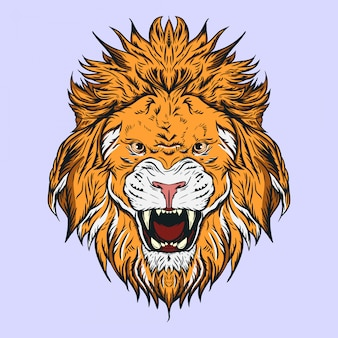 Lion head illustration, for logos, mascots, or other design needs