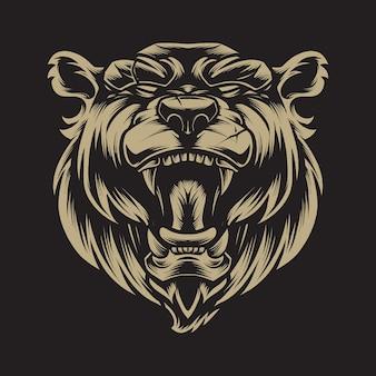 ライオンの頭のイラスト