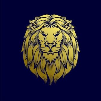 Иллюстрация головы льва