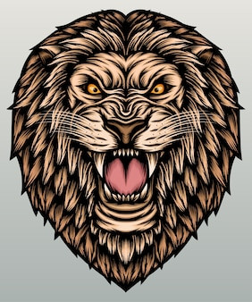 ライオンの頭のイラスト。