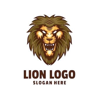 ライオンの頭のロゴデザイン