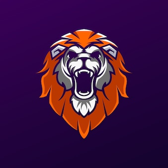 Голова льва дизайн логотипа