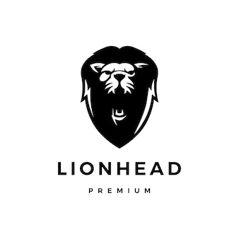 Lion head logo icon illustration