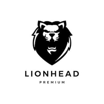 Голова льва логотип значок иллюстрации