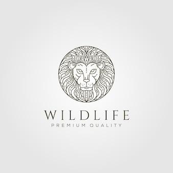 Lion head logo line art